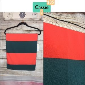 LULAROE CASSIE SKIRT - COLOR BLOCK - SMALL - NWT!
